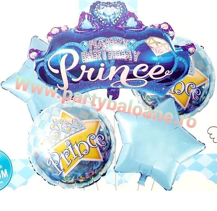Set de 5 baloane Prince bleu